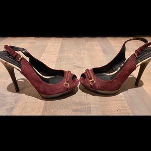 Authentic Burberry suede heels